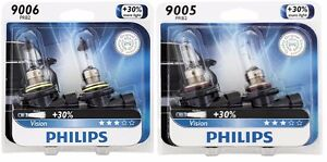 2x Philips 9005 9006 Upgrade More Bright Vision Headlight Light Bulb 65w Germany