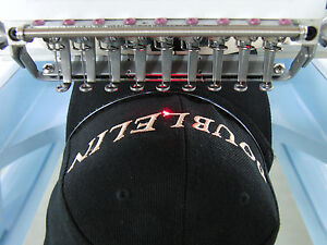 Commercial Embroidery Machine 4 Heads 12 Needles new cap Jacket T shirt Flat