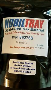 24 Nobiltray Light cured Tray Material Pink Sheets Dental Triad New Lab Supplies