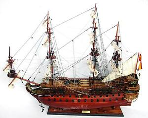 San Felipe Ship Model By Master Craftsmen 27 Built Wooden Model New
