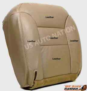 1998 Chevy Tahoe Suburban Driver Leather Bottom Replacement Seat Cover Tan