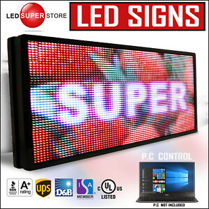 Led Super Store Full Color 31 x89 Programmable Msg Scrolling Emc Outdoor Sign