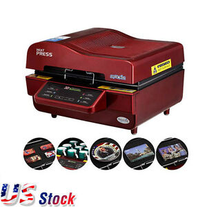 Us 3d Sublimation Heat Press Machine For Mugs Cup Phone Heat Transfer 110v