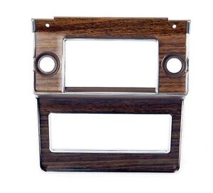 New 1969 1970 Ford Mustang Radio Bezel Woodgrain Finish Wood Deluxe Interior
