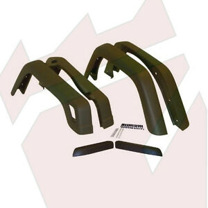 Jeep Wrangler Tj Stock Or Oe Width Fender Flares For 1997 2006 Years Black