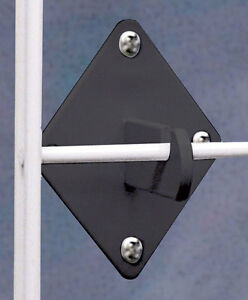 Count Of 10 New Or Retail Black Grid Panel Wall Hook Connector