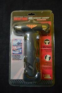 Motor Trend Auto Emergency Hammer With Seat Belt Cutter