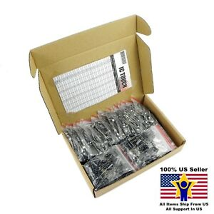 50value 800pcs Electrolytic Capacitor Assortment Box Kit Us Seller Kitb0006