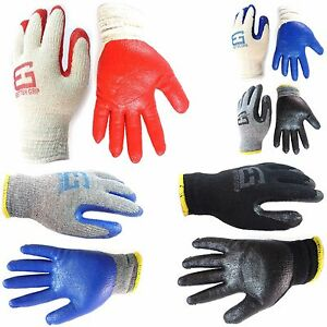 240 Pairs Better Grip Premium Double Dipped Latex Coated Work Gloves bge 240