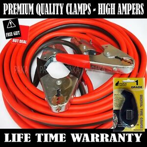 Comercial Heavy Duty 12 Ft 2 Gauge Booster Cable Jumping Cables Emergency Jumper