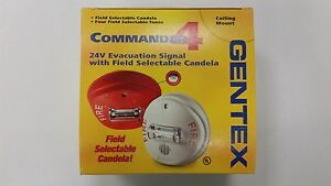 Gentex Gcc24cw Selectable Ceiling Horn strobe Combination 904 1211 002 White