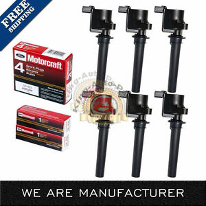 Set Of 6 Ignition Coil 6 Motorcraft Sp493 Spark Plugs For Ford Mazda Mercury