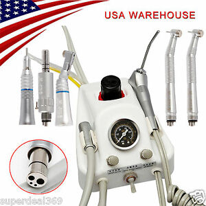 Usa Dental Portable Turbine Unit Nsk Style High low Speed Handpiece Kit 4 H D
