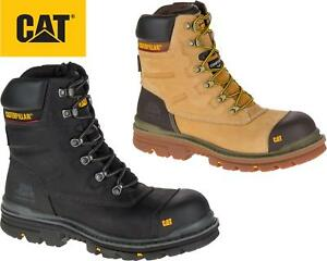 Mens Caterpillar 8 Waterproof S3 Composite Safety Leather Safety Work Boots S3