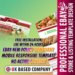 Appealing Ebay Store Template Listing Mobile Responsive Template Food Items