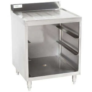 Stainless Steel Corrugated Top Glass Rack Storage Unit 23 X 24