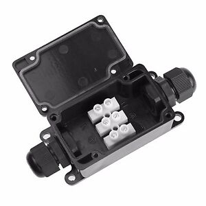 Box Project Box 2 Way Black Junction Box With Terminal Block