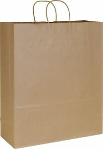 200 Kraft Paper Brown Paper Bags Shoppers Queen 16 X 6 X 19
