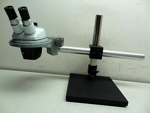 Stereo Zoom Microscope With Wf10x Eye Piece Objectives Adjustable Boom Stand