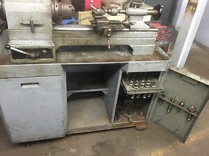 Rivett Lathe And Grinder 6 Station Turret Lathe Model 918s With Collets And Acc