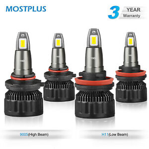 4x Combo 9005 H11 Led Headlight Conversion Kit High Low Beam Bulbs 6000k