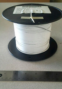 500 Ft Spool M22759 8 18 9 White Aircraft Wire 18awg 19c 30awg 600v