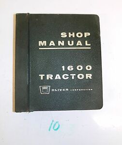 Original Oliver Tractor 1600 Service Shop Repair Manual 7 1 64