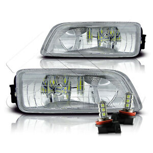 Fir 06 07 Honda Accord Inspire 4dr Fog Light W wiring Kit Led Bulbs