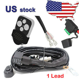 52 Led Work Light Bar Wiring Harness On Off Strobe Remote Control Switch 1lead
