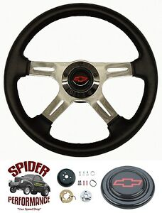 1969 1973 Chevelle Steering Wheel Red Bowtie 14 Four Spoke