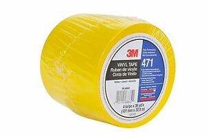 3m Vinyl Tape 471 Yellow 4 In X 36 Yd Marking Tape 1 Roll New Sealed