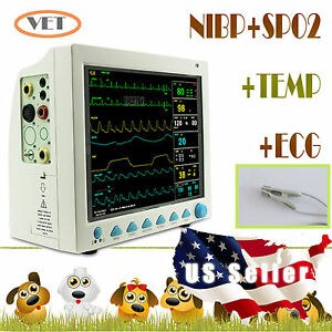 usa Seller veterinary Vet Cms8000 Patient Monitor nibp spo2 pr ecg temp resp