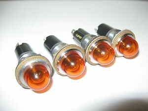 4pc Vintage Dialco Panel Mount Indicator Lights Steampunk