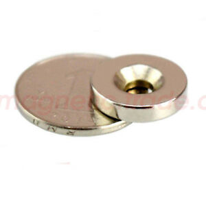 Wholesale 3 4 X 1 6 Countersunk 5mm Super Strong Disc Neodymium Magnet N38