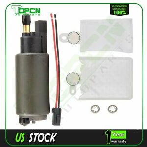 New High Performance Electric Fuel Pump With Installation Kit Strainer E2312