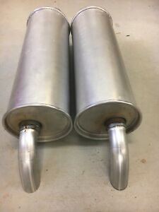 1964 1966 Ford Thunderbird Stock Direct Fit Right And Left Side Dual Muffler Set