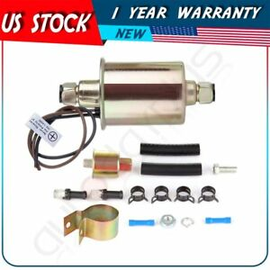 Universal Low Pressure 5 9 Psi Electric Fuel Pump With Installation Kit E8012s