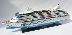 Aidavita Cruise Ship Model 32 Handmade Wooden Ship Model New