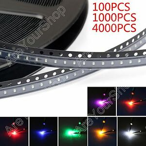 0603 Smd Led Red Green Blue Yellow White Orange Purple 7color Light Dio
