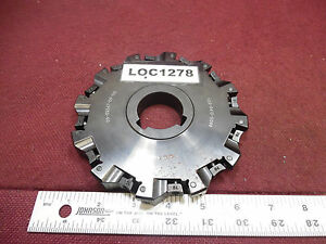 Lovejoy Indexable Insert Milling Slitting Cutter 1 5 Arbor 6 Dia Loc1278