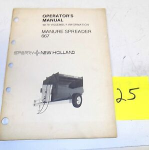 Sperry New Holland 667 Manure Spreader Operator Manual