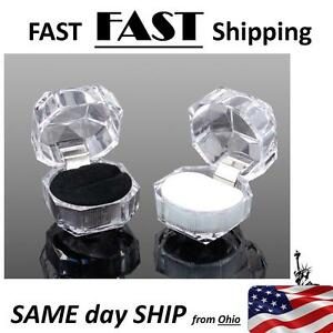 Black Acrylic Ring Boxes Wholesale Jewelry Ring Boxes Showcase Displays 20lot