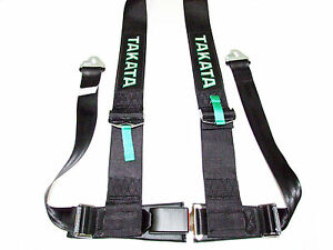 Takata Drift Iii 4 Point Snap on 3 Racing Seat Belt Harness black