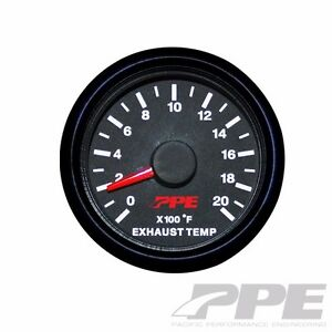 Ppe Pyrometer Exhaust Gas Temperature Gauge Chevy Ford Fits Dodge 517010000