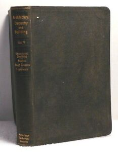 1926 Drafting Statics Roof Trusses Hardware Architecture Carpentry Building Vl 5