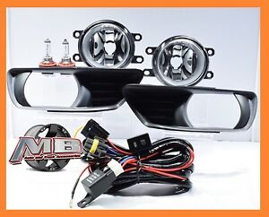 2007 2009 Toyota Camry Fog Lights Front Bumper Lamps Clear Lens Complete Kit