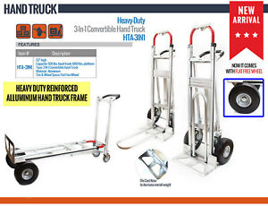 Nk Heavy Duty 3 in 1 Convertible Hand Truck fully Assembled Local Pickup Only
