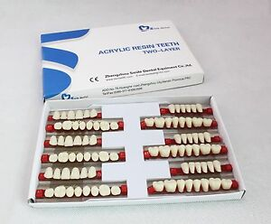 5 Boxes 3sets Denture Of 28 1 Dental Acrylic Resin Teeth Vita Color 503 A2