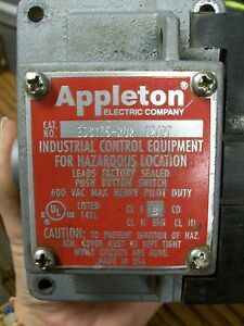 Appleton Eds175 ru2 12 07 Push Button Switch