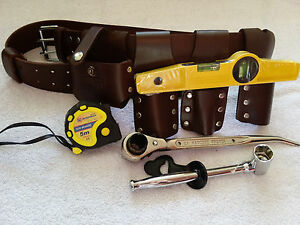 Scaffolding 100 Leather Belt With 4 Pcs Full Tools Set 7 5 Tape Measure